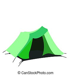 Tourist tent isolated on a white background Raster