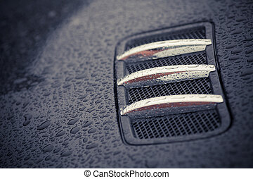 Air intake scoop - Color image of an air intake scoop on a...