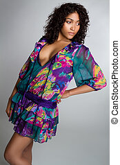 Fashion Woman - Beautiful african american fashion woman