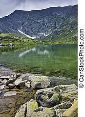 The Twin lake, Rila Mountain - Landscape of The Twin lake,...