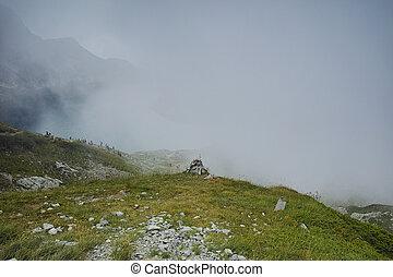 The Kidney lake, Rila Mountain - Fog over The Kidney lake,...