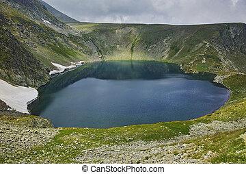 The Eye lake, Rila Mountain - Panoramic view of The Eye...