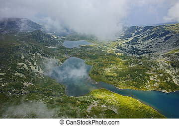 The Seven Rila Lakes, Bulgaria - Fog over The Twin and the...