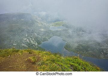 The Seven Rila Lakes, Bulgaria - Amazing Fog Landscape of...
