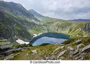 Eye lake, Rila Mountain - The Eye lake before storm, The...