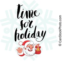 Time for holiday lettering
