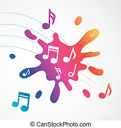 Music abstract colorful splash