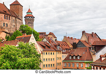 Old Town in Nuremberg - Picturesque view of Old Town in...