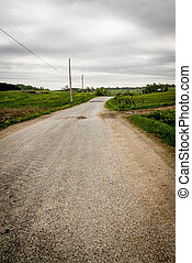 Country Road landscape - dramatic country road St-Alban...