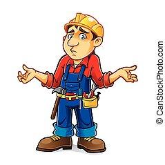 Cartoon Builder Regret - builder was an expression of regret...