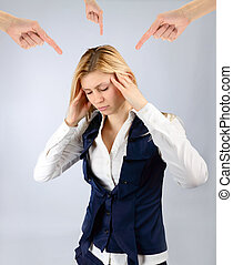 Arms show a woman under stress - Concept stress The arms...