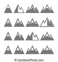 Bjerg, Sæt, iconerne