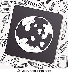 earth doodle drawing