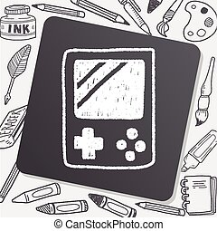 Handheld game doodle drawing