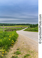 Country Road landscape St-Alban Quebec Canada