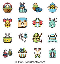icon set easter