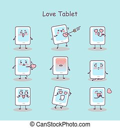 Love cartoon digital tablet pc set, great for your design