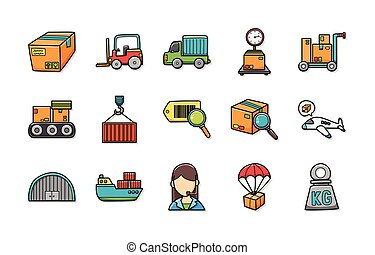 Logistic and shipping icons set,eps10