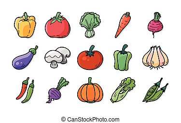 Vegetable and fruit icons set,eps10