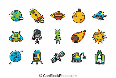 Space and astrology icons set,eps10