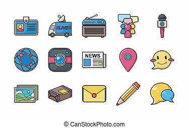 Social media icons set,eps10