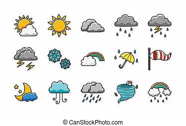 Weather icons set,eps10