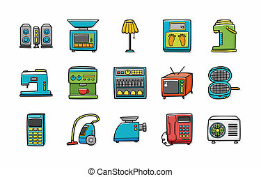 Home appliances icons set,eps10