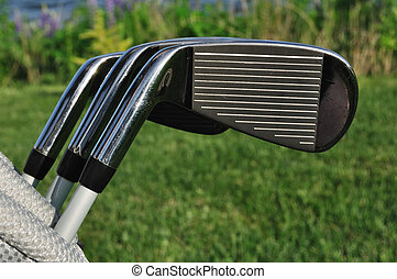 Irons in a Golf Bag
