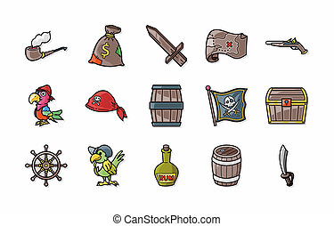 Pirate icons set,eps10
