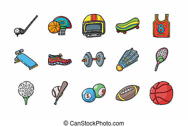 Sport and fitness icons set,eps10