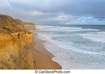 Coastal view from the Gibson Steps in Port Campbell National...