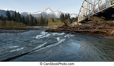 Whitehorse Mountain North Cascades Darrington WA Sauk River...