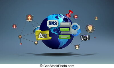 Social network application service contents and global...