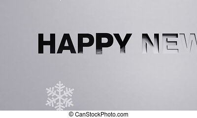 'Happy new year' made from paper works (included alpha)