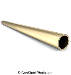 Metal pipe isolated on white background 3d illustration -...