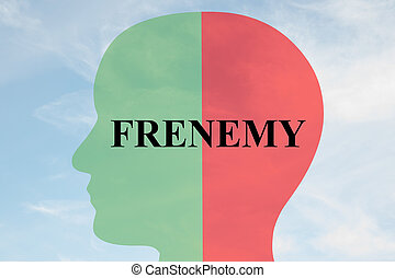Frenemy personality concept - Render illustration of FRENEMY...