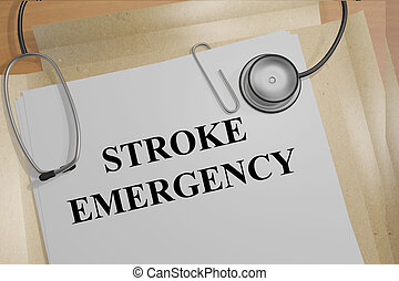 Stroke Emergency medical concept - 3D illustration of STROKE...