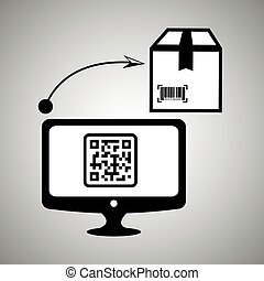 product identification code design, vector illustration...
