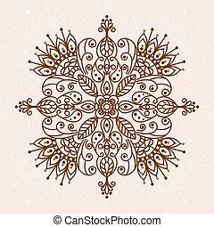 Mandala henna flower