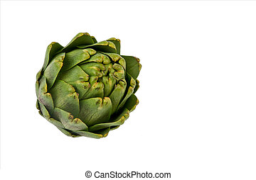 Artichoke on white - Image of an artichoke on a white...