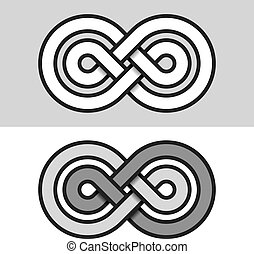 infinity eternity paper symbol - illustration for the web