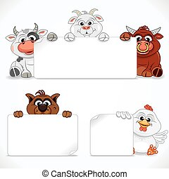 Farm Animals Collection. Vector