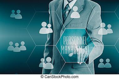 Human resources, CRM Concept personnel management - Human...