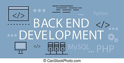 Back end Development Banner Concept - Back end development...