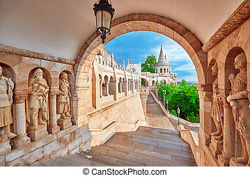 View on the Old Fisherman Bastion in Budapest Arch Gallery