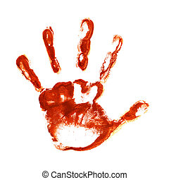 Spooky hand prints - Spooky hand print isolated on white