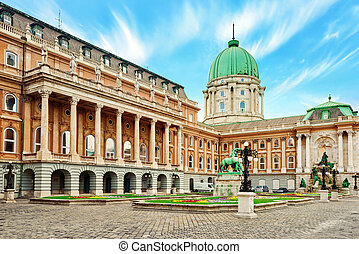 Budapest Royal Castle -Courtyard of the Royal Palace in...