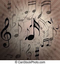 Music notes-Melody - Illustration of musical notes in the...