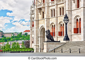 Hungarian Parliament Main Entrance Budapest Fragments of...