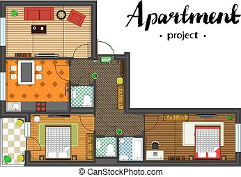apartment project top view - Apartment project with...